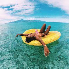 beach floatin'