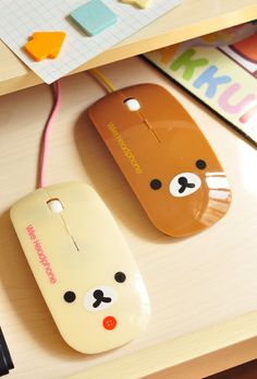 Rilakkuma San x Relax Bear Optical USB Mice Wired Mouse