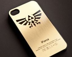 ZELDA TRIFORCE GOLDEN iPhone Case 5-4s-4 Gold  $16.99, via Etsy.