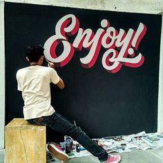 Wall work from @edisonsaputroo