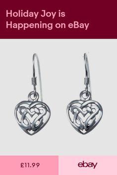 b7083b2ba Sterling Silver Celtic Heart Earrings with Gift Box - Drop Earrings