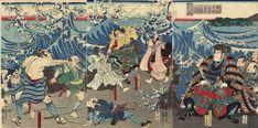 Samurai Vs. Crocodile… The Woodblock Prints of Utagawa Kuniyoshi – CVLT Nation