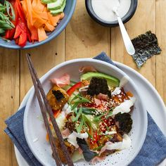 Teriyaki Tofu Sushi Bowl