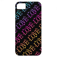 #Rainbow: #Love and #Hearts #iPhone #5 #Case