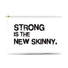 Strong is the new skinny gym pouch by ErinElisabeth86 on Etsy