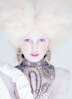 """Ali Stephens in """"Charm Of Rococo"""" by Amber Gray for Marie Claire China January 2014  #fashion #color #Marie Claire China"""