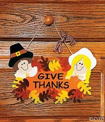 Give Thanks Door Sign Craft