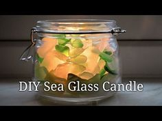 How to Make a Sea Glass Candle - Lovely Greens