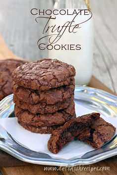 With 20 ounces of melted dark chocolate in the batter and two cups of semisweet chips, these Chocolate Truffle Cookies are pure chocolate decadence.