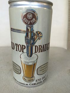 Gold Top Draught Beer Can