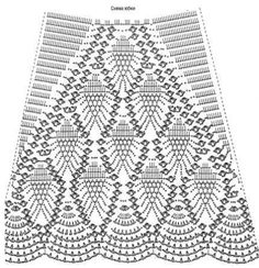 "piñas para falda -""pineapples for skirt"" Super handy to read diagram when you come across these beautiful patterns w/no instructions :)"