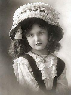 Spring...Little Girl In Her Easter Bonnet
