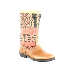 handmade leather/vintage killim boots <3 OOOOOOOOOOH!