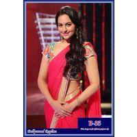 Sonakshi Sinha Pink Saree At Star Award By Vamika