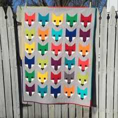 My Fancy Fox quilt that I made for my 20th great niece or nephew.