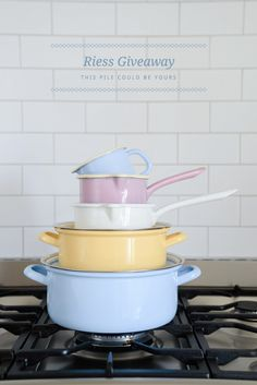 Riess Enamelware Giveaway - on the Yvestown Blog