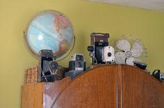 great vintage camera display