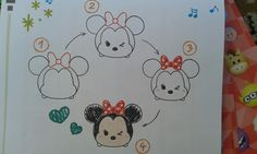 How to draw Minie Mouse