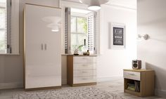 £150 for all 3 These pieces of high gloss bedroom furniture come in various colour combinations to match all interiors