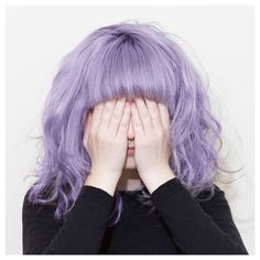 See No Evil: Adorable Wavy Lilac Lob with Full Bangs