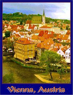 Vienna Austia Sound of Music European Europe Travel Art Advertisement Poster 3