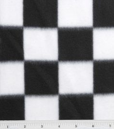 Blizzard Fleece Print-Black/White Check & blizzard fleece at Joann.com
