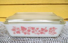 Pyrex Pink Gooseberry Refrigerator Dish with Cover #503 1.5 Quart Size by…