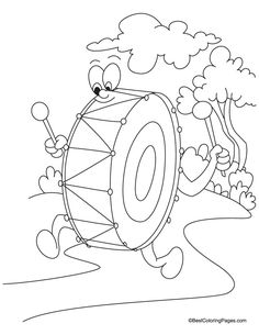 drum coloring page download free drum coloring page for kids best coloring pages
