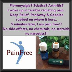 Young Living Essential Oils has set me free from prescription & OTC medicine!! Living with pain is my norm, at times it becomes unbearable - thanking God for these 100% pure plant oils-nothing added! Visit youngliving.com (member #1410186) bugs62.91@gmail.com