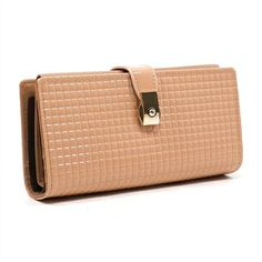Peach Embossed Leather Wallet from Virtuous Charm
