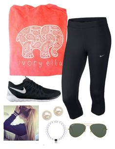 """""""Ivory Ella❤️"""" by preppy13 ❤ liked on Polyvore featuring NIKE, Honora and Ray-Ban"""