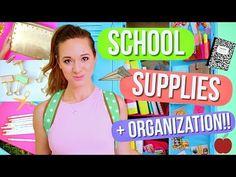 DIY School Supplies + Locker Organization!! Alisha Marie - YouTube