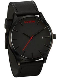MVMT Herren Watch Uhr Black/Black Leder Armband MC01BL - http://uhr.haus/mvmt/mvmt-herren-watch-uhr-black-black-leder-armband