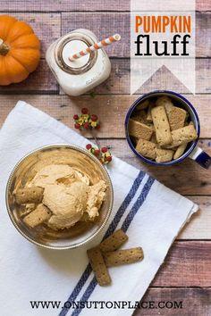 Pumpkin Fluff | An easy snack or dessert!  http://onsuttonplace.com