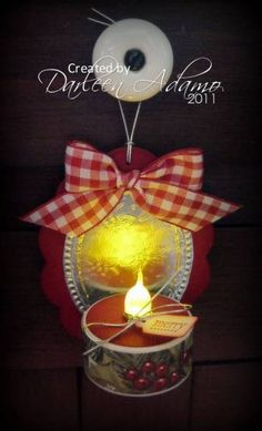 Tea Light Sconce by darleenstamps - Cards and Paper Crafts at Splitcoaststampers