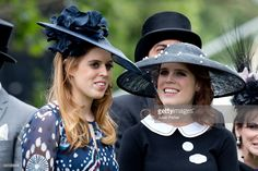 Princess Beatrice, and Princess Eugenie attend day 5 of Royal Ascot at Ascot Racecourse on June 18, 2016 in Ascot, England.   (Photo by Julian Parker/UK Press via Getty Images)