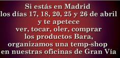 Tenemos jornadas de puertas abiertas varios días este mes, si estás en Madrid, pásate por nuestra oficina (Gran Vía 16, 4º centro) cualquiera de esos días entre las 17h y las 21h y prueba nuestros productos. Más información en nuestra web, www.baracosmetics.es