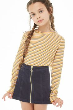 Girls Corduroy Zip Skirt (Kids) The Effective Pictures We Offer You About tween fashion boys A quali Girls Fall Outfits, Little Girl Outfits, Cute Girl Outfits, Cute Outfits For Kids, Girly Outfits, Cute Clothes For Kids, Back To School Outfits For Kids, Preteen Girls Fashion, Girls Fashion Clothes