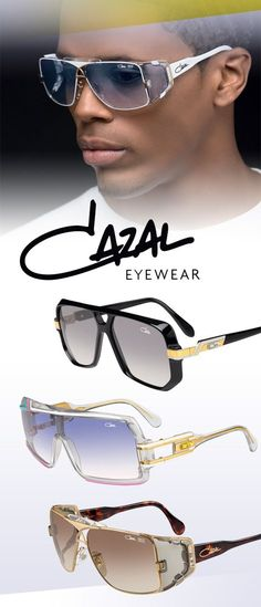 Cazal Eyewear, Legends Collection: 858 and 955 available in the BX! Cazal Sunglasses, Luxury Sunglasses, Stylish Sunglasses, Ray Ban Sunglasses, Sunglasses Women, Lunette Cazal Homme, Cristian Dior, Swagg, Mens Fashion