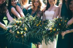 leafy bouquets, so great, so different....