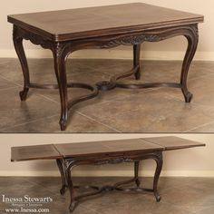Antique Furniture | Antique Dining Furniture | Antique Dining Tables |  Country French Oak Draw Leaf