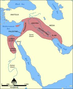 mappery.com  Fertile Crescent Map (Lower and Upper Egypt, Phoenicia, Assyria, etc.)