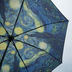 home accessory starry night umbrella artsy art hoe