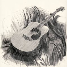 drawings of guitars