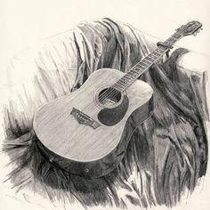 drawings of guitars