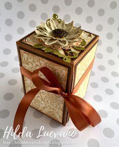 Hilda Designs: Caja Desplegable en SnapDragon Snippets