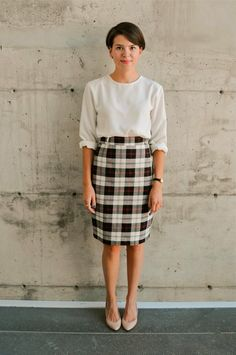 Plaid Pencil Skirt / Vintage Professional Skirt / by LesOubliettes, $23.00 #young #professional