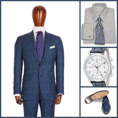 BUSINESS STYLE: Sartori Rossi(Suit)-Paul Fredrick(Shirt Tie Option)-Frederique Constant(Watch)-Paul Parker(Shoes)