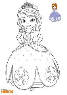 Téléchargez et imprimez ces coloriages Sofia La Princesse !