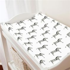 Painted Zebra Changing Pad Cover | Carousel Designs